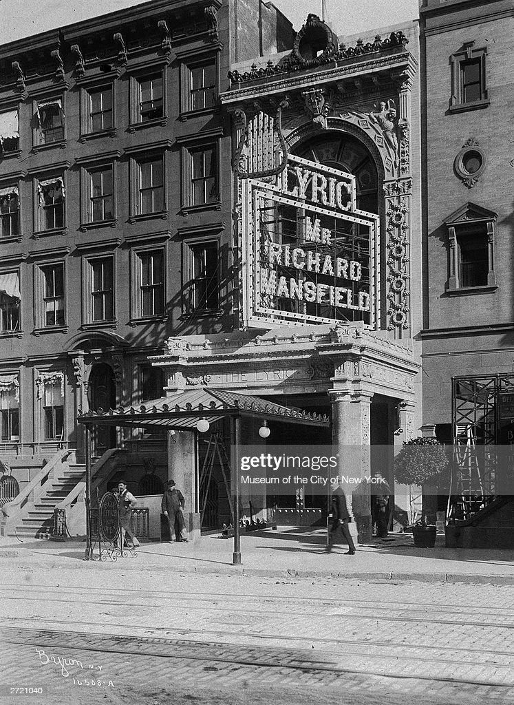 Exterior Of The Lyric Theatre, New York City, 1900s. News