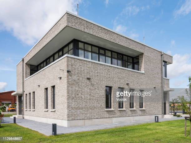 exterior of the office building in germany - headquarters stock pictures, royalty-free photos & images