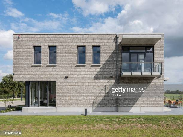 exterior of the office building in germany - facade stock pictures, royalty-free photos & images