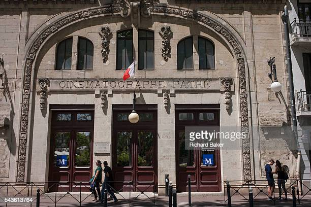 Exterior of the old Cinematographe Pathe cinema on Boulevard Sarrail on 19th June 2016 in Montpellier France Pathé is the name of various French...