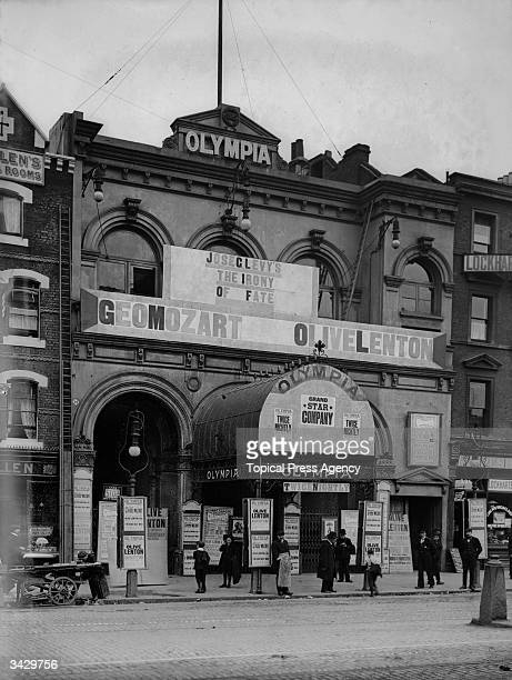Exterior of the Olympia Theatre in Shoreditch, London.
