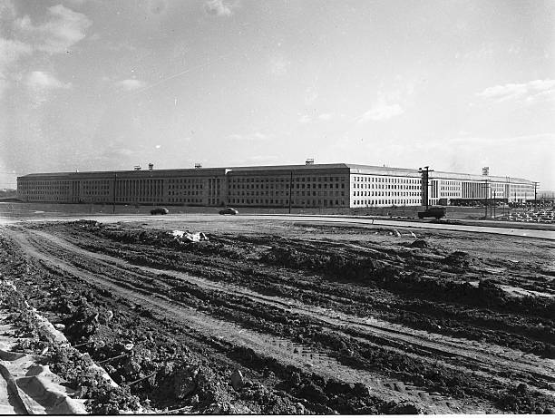 Exterior Of The Pentagon Building, Arlington, Virginia, Shortly After Its Dedication On January 15, 1943 Wall Art