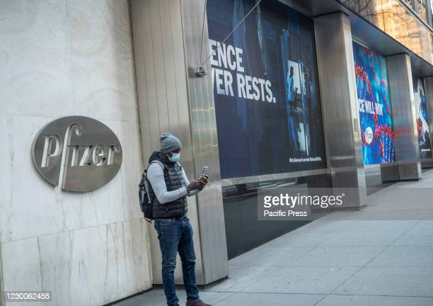 Exterior of the Pfizer World headquater building. Pfizer Incorporation is an American multinational pharmaceutical corporation. It is one of the...