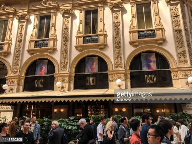 Exterior of the restaurant of the famous Italian chef Carlo Cracco in Galleria Vittorio Emanuele Milan Italy on May 14 2019