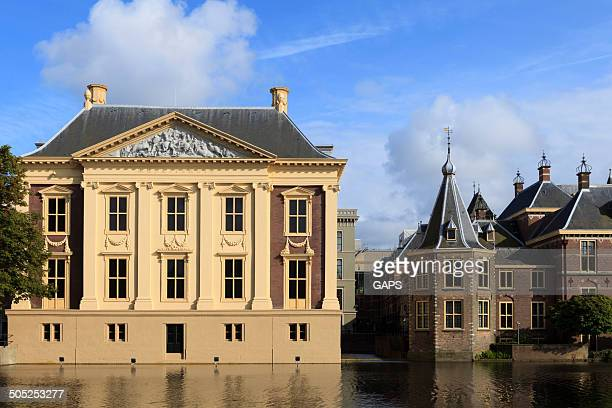 exterior of the royal cabinet of paintings mauritshuis - the hague stock photos and pictures