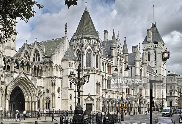Exterior of the Royal Courts of Justice in The Strand.
