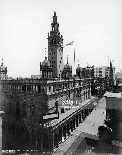 Exterior of the second Madison Square Garden at its original location 26th Street and Madison Avenue New York City 1895 The building was designed by...