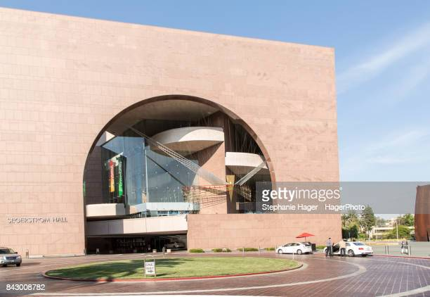 exterior of the segerstrom center for the arts - performing arts center stock photos and pictures