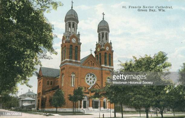 Exterior of the St Francis Xavier Cathedral Green Bay Wisconsin 1910