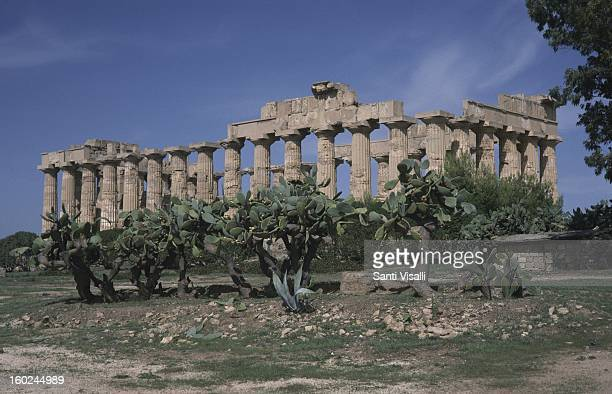 Exterior of the Temple Of Juno on July 22 1996 in Selinunte Italy