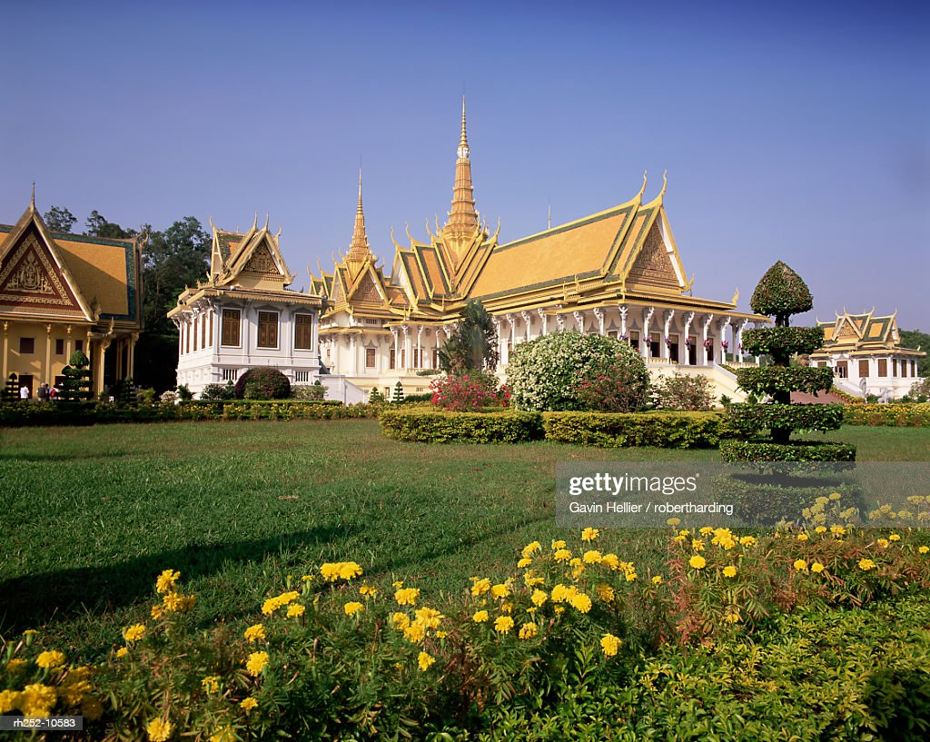 Exterior of the Throne Hall, Royal Palace, Phnom Penh, Cambodia, Indochina, Southeast Asia, Asia : Foto de stock