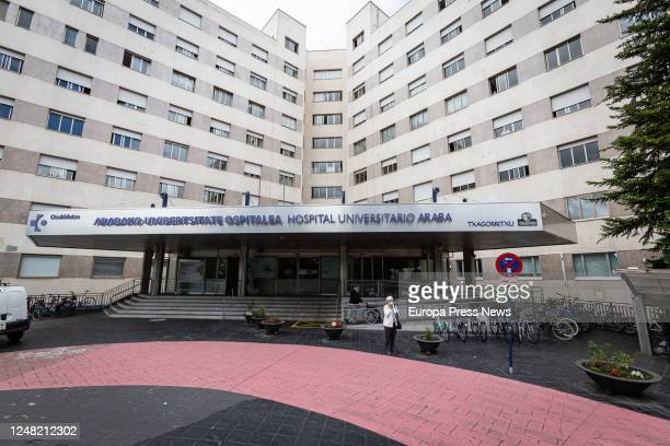 Exterior of the Txagorritxu Hospital, where the counsellor of Health of the Basque Country, Nekane Muga, has confirmed a new outbreak of coronavirus,...