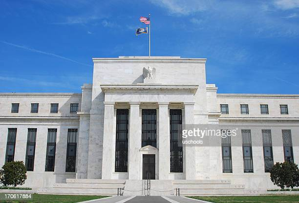 exterior of the us federal reserve building in washington dc - interest rate stock pictures, royalty-free photos & images