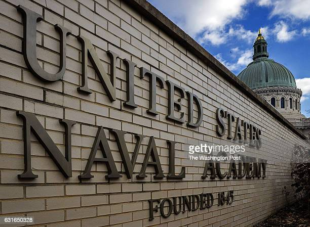 Exterior of the US Naval Academy for file on December 2014 in Annapolis MD