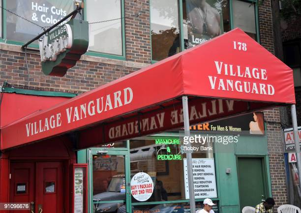 Exterior of the Village Vanguard in Greenwich Village on the streets of Manhattan on September 23 2009 in New York City