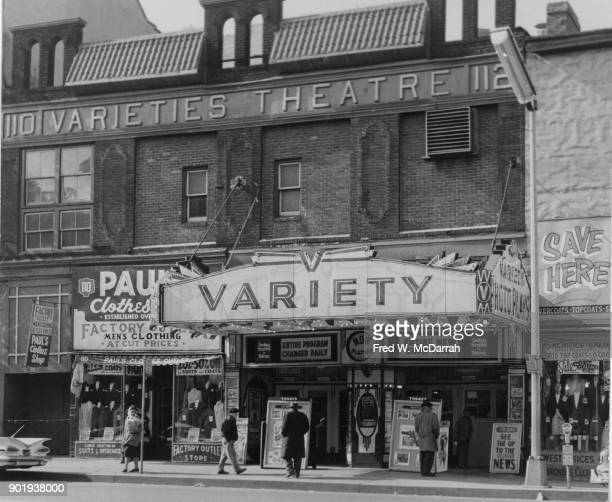 Exterior of Variety Theater or Varieties Theatre New York New York February 26 1960