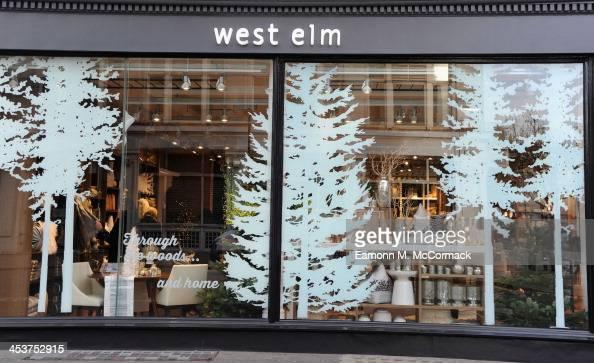 West Elm Christmas Display.Exterior Of West Elm London Opening On December 5 2013 In