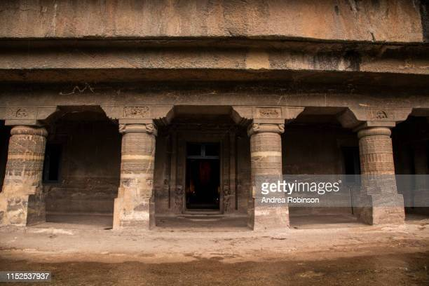 exterior outside caves 20-25, buddhist caves at ajanta caves, maharashtra, india - この撮影のクリップをもっと見る 2025 stock pictures, royalty-free photos & images