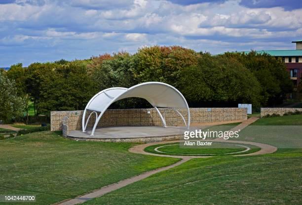 Exterior pavilion in Campbell Park sculpture park