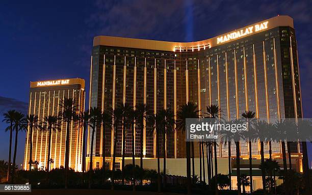 Exterior photo of the Mandalay Bay Resort Casino November 10 2005 in Las Vegas Nevada