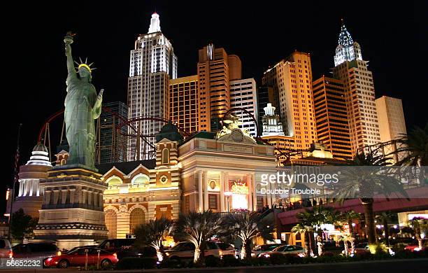 Exterior photo of the New York New York Hotel and Casino March 20 2005 in Las Vegas Nevada