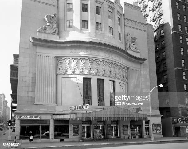 Exterior photo of the Ziegfeld Theater located at West 54 Street on the west side of Sixth Avenue New York NY The theater was demolished in 1966 This...