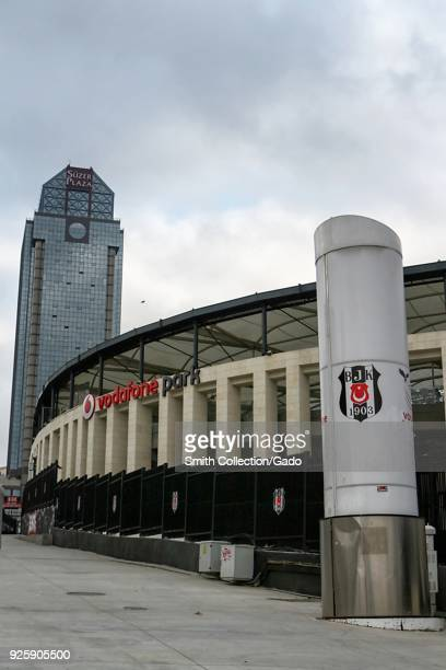 Exterior photograph of Vodafone Park a large sports arena and museum Istanbul Turkey November 15 2017