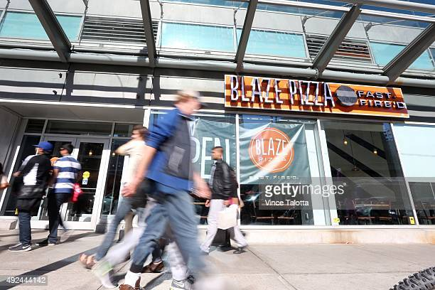 Exterior picture of Blaze Pizza on Dundas St E at Yonge St in Toronto