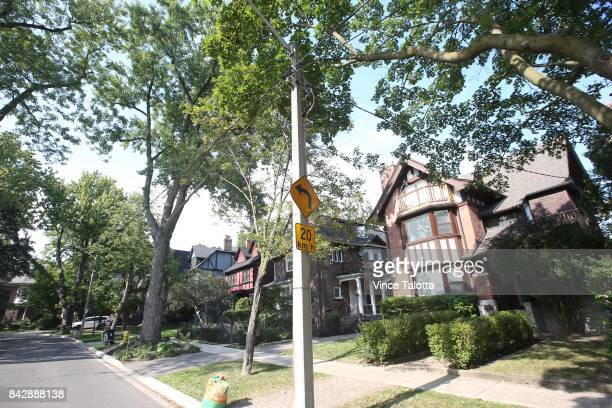 TORONTO ON AUGUST 28 Exterior pictures of homes on Admiral home that back up to or the nearby the proposed eightstorey condo development in their...