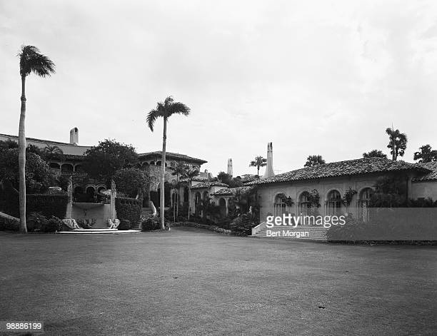 Exterior rear view of MaraLago Palm Beach Florida mid 1950s The residence designed by Marion Sims Wyeth and Joseph Urban was the home of heiress...