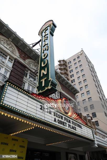 Exterior shot of The Paramount Theater during the Opening Night Screening and World Premiere of 'A Quiet Place' during the 2018 SXSW Film Festival on...