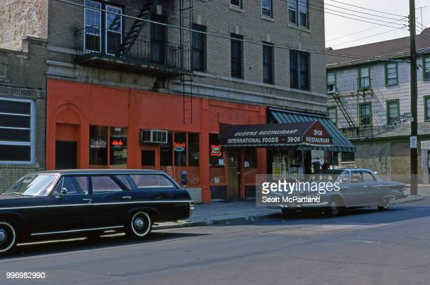 Exterior shot of the Queens Restaurant at the 3906 104th Street in Corona Queens New York New York August 1 1966