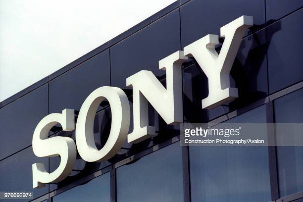 Exterior sign, Sony television plant, Pencoed, Bridgend, South Wales.