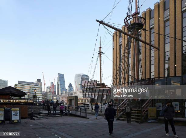 Exterior view Borough London with Golden Hinde Architectural Stock Various United Kingdom Architect n/a 2016