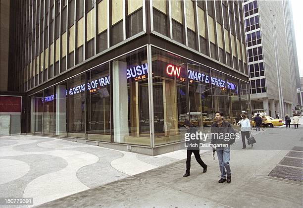 Exterior view CNN Studio in the company head office