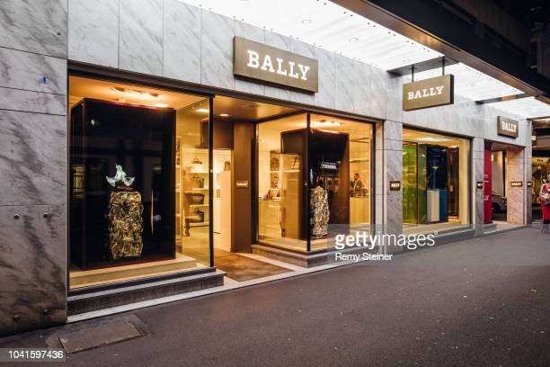 Exterior view during a store event at the Bally Boutique on September 20, 2018 in Zurich, Switzerland. Bally collaborates with Zurich University of...