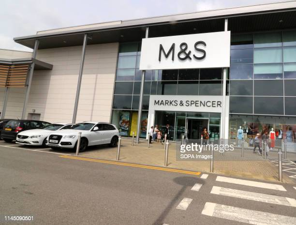 Exterior view of a Marks Spencer store One of the Top Ten Supermarket chains / brands in the United Kingdom