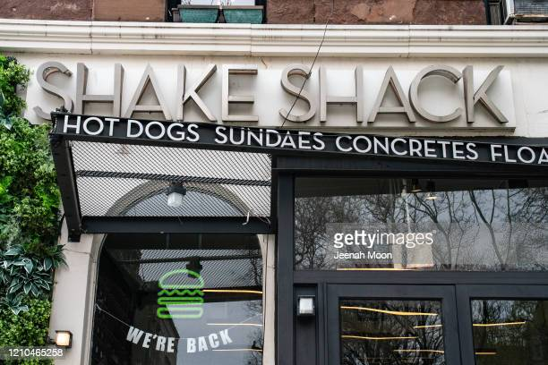 Exterior view of a Shake Shack restaurant on April 20, 2020 in New York City. Shake Shack announced that they will return a $10 million government...
