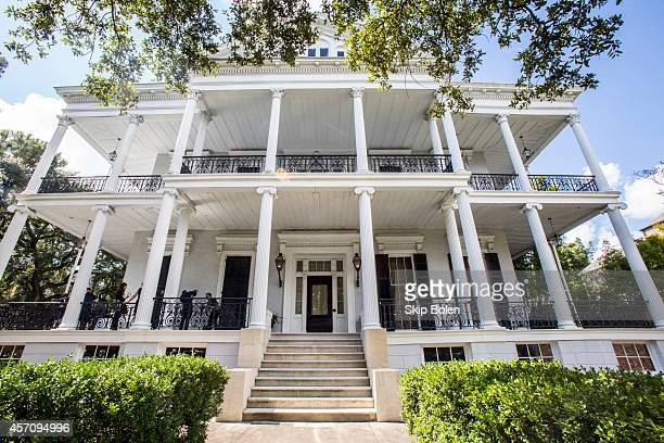 Exterior view of 'American Horror Story Coven' fan event to celebrate the October 7 Bluray and DVD release at Buckner Mansion on October 11 2014 in...