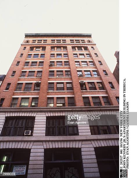 Exterior view of American lawyer and magazine publisher John Kennedy Jr's apartment building in Tribeca New York City October 1 1996