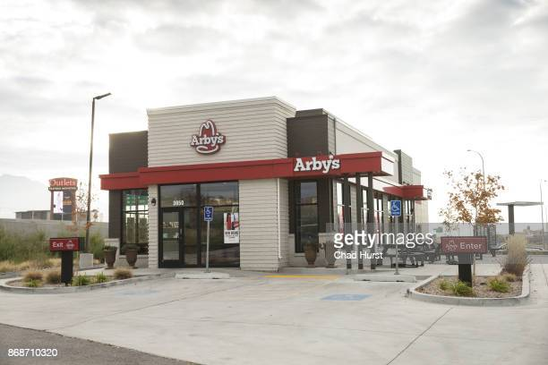 Exterior view of an Arby's restaurant on October 26 2017 in Lehi Utah