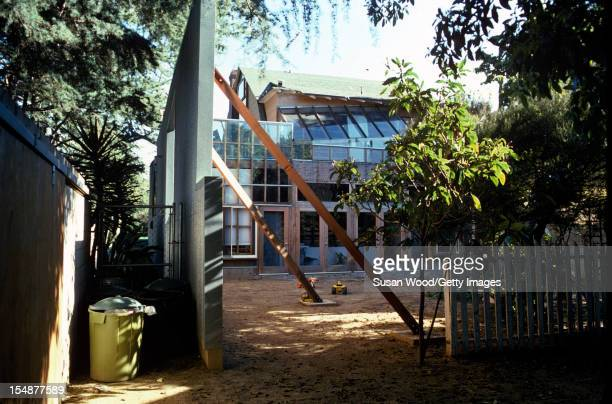 Exterior view of architect Frank Gehry's selfdesigned home Santa Monica California January 1980