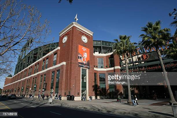 Exterior view of ATT Park home of the San Francisco Giants and the site of the 2007 Major League Baseball AllStar Game during the game between the...