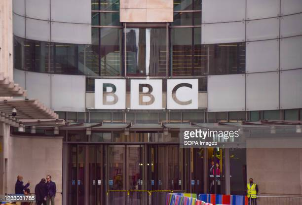Exterior view of Broadcasting House, the BBC headquarters in Central London.