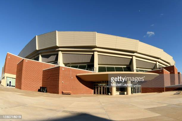 Exterior view of Bryce Jordan Center before a college basketball game between the Rutgers Scarlet Knights and the Penn State Nittany Lions on January...