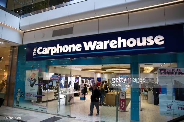 Exterior view of Carphone Warehouse in London UK