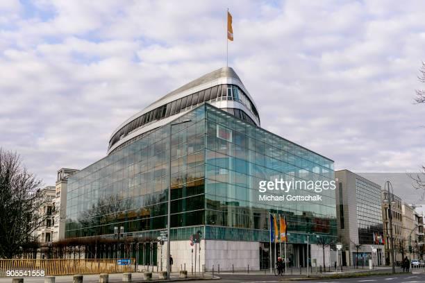 Exterior view of CDU headquarters KonradAdenauerHaus on January 15 2018 in Berlin Germany