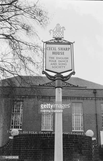 Exterior view of Cecil Sharp House the home of the English Folk Dance and Song Society near Regent's Park in London 9th March 1971