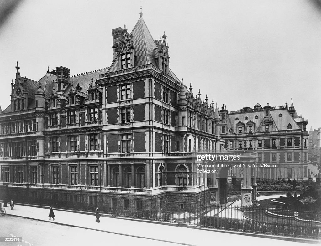 Exterior view of Cornelius Vanderbilt's residence on the west side of Fifth Avenue, between 57th and 58th Streets, New York City. The French Ch?teau-style mansion was one of only three houses on Fifth Avenue to take up an entire block-front (the other two were the Carnegie and Frick residences). Designed in 1893 by architect George B. Post. The Bergdorf Goodman department store was erected on this site in 1928.