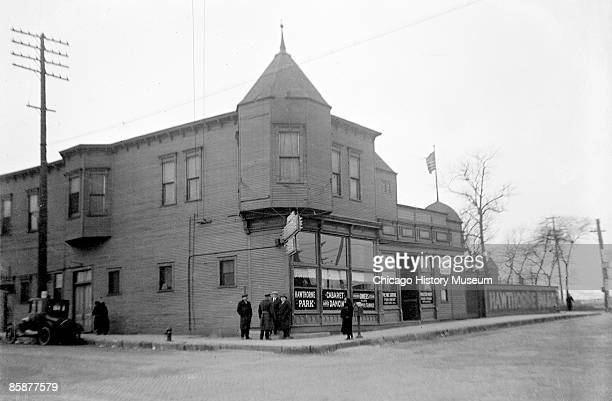 Exterior view of Eddie Tancel's cabaret club known as the Hawthorne Cabaret and located at 4801 West 26th Street at Ogden and Cicero Avenues in the...